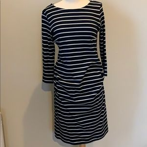 Navy Blue & White stripe maternity dress So comfy!